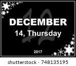 december day calendar with a...   Shutterstock . vector #748135195