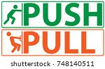 push and pull icon  vector ... | Shutterstock .eps vector #748140511