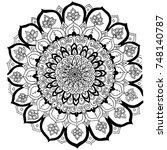 mandala vector illustration... | Shutterstock .eps vector #748140787
