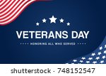 veterans day background vector... | Shutterstock .eps vector #748152547