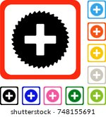 create icon. flat gray iconic...