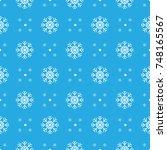pattern seamless snowflake for... | Shutterstock .eps vector #748165567