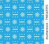 pattern seamless snowflake for... | Shutterstock .eps vector #748165591