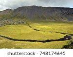 iceland   green garden and... | Shutterstock . vector #748174645