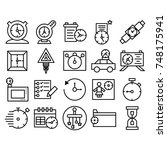 simple set of time related...   Shutterstock .eps vector #748175941