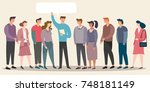 people are communicating | Shutterstock .eps vector #748181149