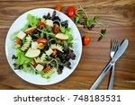 Fresh Green Salad With Tomato...