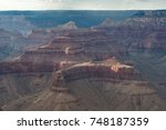 sunset at grand canyon in... | Shutterstock . vector #748187359