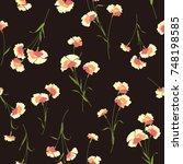flower illustration pattern | Shutterstock .eps vector #748198585