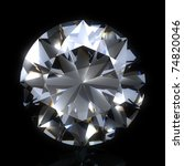diamond stone on black space....   Shutterstock . vector #74820046