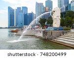 singapore   november 1 2017  ... | Shutterstock . vector #748200499