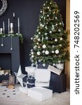christmas decorations | Shutterstock . vector #748202569