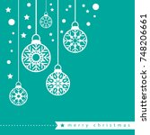 template christmas card  for... | Shutterstock .eps vector #748206661