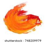 colorful oil art stroke design | Shutterstock . vector #748209979