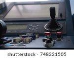 navigation panel on board a... | Shutterstock . vector #748221505