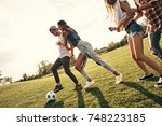 spending great time with... | Shutterstock . vector #748223185