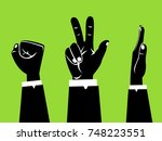 hands playing paper rock... | Shutterstock .eps vector #748223551
