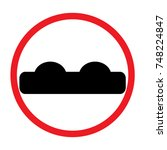 signs unequal road surface | Shutterstock .eps vector #748224847