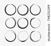 circle vectors material design... | Shutterstock .eps vector #748231399