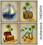 set of vacation illustrations | Shutterstock . vector #74823454