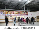 food court of costco store at... | Shutterstock . vector #748241011