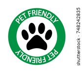 pet friendly sign vector icon. | Shutterstock .eps vector #748242835