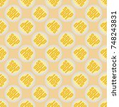 sold out seamless pattern with... | Shutterstock .eps vector #748243831