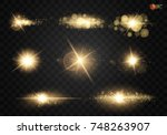 set. shining star  the sun... | Shutterstock .eps vector #748263907