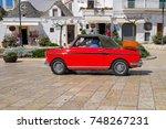 alberobello  italy   april 20 ... | Shutterstock . vector #748267231