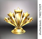 award from five gold stars on a ...   Shutterstock .eps vector #748271029