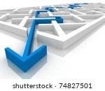 maze through which paved the way | Shutterstock . vector #74827501