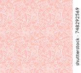 vector seamless floral pattern... | Shutterstock .eps vector #748292569