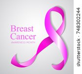 background with pink breast... | Shutterstock . vector #748302244
