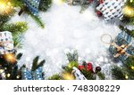 christmas holiday background  | Shutterstock . vector #748308229