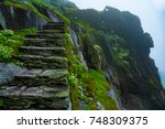 skellig michael stairs  ireland | Shutterstock . vector #748309375