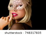 portrait of a beautiful...   Shutterstock . vector #748317835