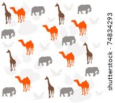 animals background | Shutterstock . vector #74834293
