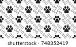 dog paw dog bone puppy cat foot ... | Shutterstock .eps vector #748352419
