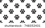 dog paw cat paw puppy bone foot ... | Shutterstock .eps vector #748352431