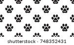 dog paw cat paw puppy bone foot ... | Shutterstock .eps vector #748352431