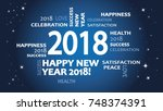 2018 new year background. | Shutterstock .eps vector #748374391