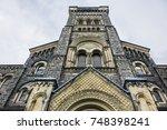 view of old university college... | Shutterstock . vector #748398241