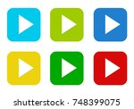 set of rounded square colorful... | Shutterstock . vector #748399075