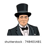 old winking good looking... | Shutterstock .eps vector #748401481