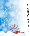 vector calligraphy. winter... | Shutterstock .eps vector #748406125