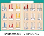 kids learn numbers with abacus  ... | Shutterstock .eps vector #748408717