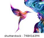 bird of mind series. visually... | Shutterstock . vector #748416394