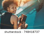 close up portrait of young... | Shutterstock . vector #748418737