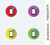 smart phone flat logo design... | Shutterstock .eps vector #748425979