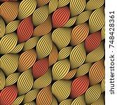 leaves vector seamless pattern   Shutterstock .eps vector #748428361